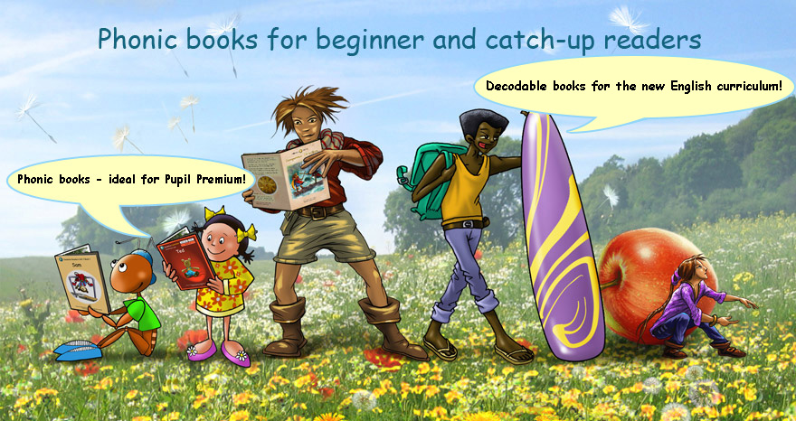 Phonic Books for beginner and catch-up readers